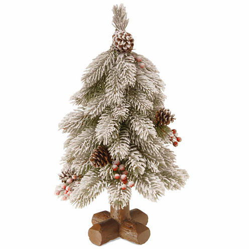 National Tree Co. Snowy Bayberry Spruce Christmas Tree