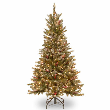 jcpenney.com | National Tree Co. 5 Foot Frosted Fir Slim Pre-Lit Christmas Tree