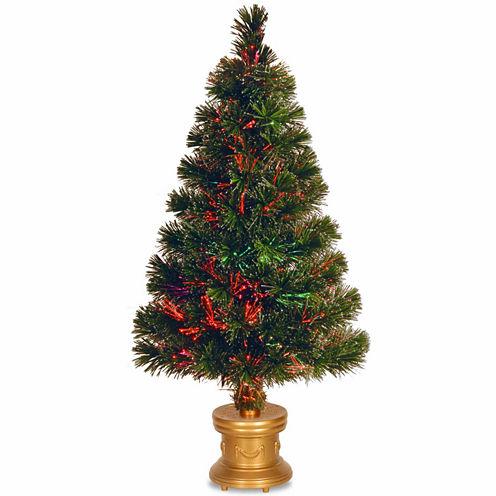 National Tree Co. 2 Foot Evergreen Firework Pre-Lit Christmas Tree