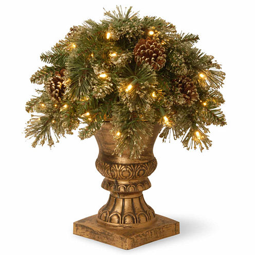 National Tree Co. Glittery Gold Pine Porch Pre-Lit Christmas Tree