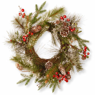 jcpenney.com | National Tree Co Pine Cones And Flocked Evergreen Indoor/Outdoor Christmas Wreath