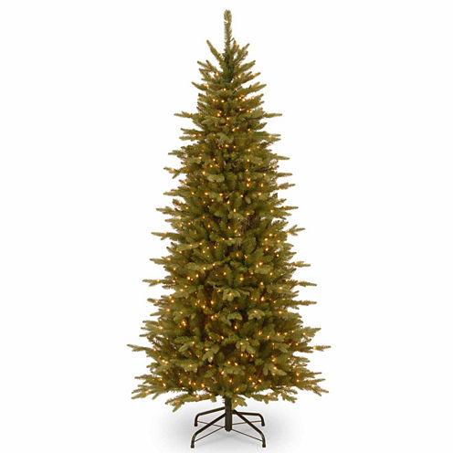 National Tree Co. 7 1/2 Foot Sierra Spruce Slim Pre-Lit Christmas Tree