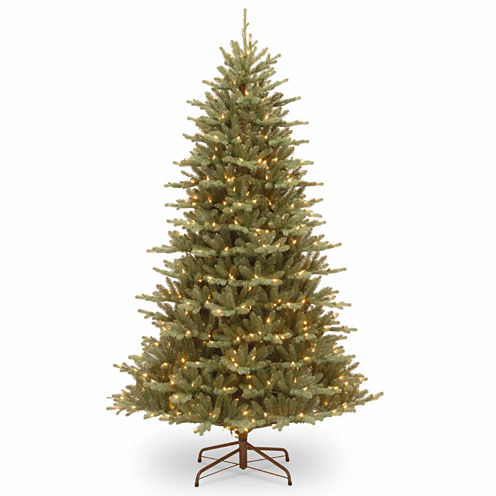 "National Tree Co. 7 1/2 Foot Feel-Real"" Asbury Blue Spruce"" Pre-Lit Christmas Tree"