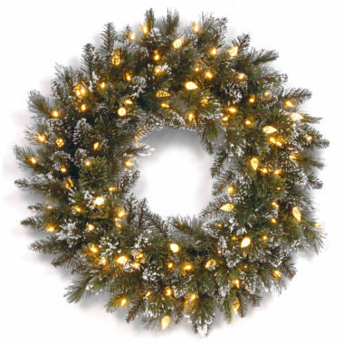 jcpenney.com | National Tree Co. Glittery Bristle Pine Indoor/Outdoor Christmas Wreath