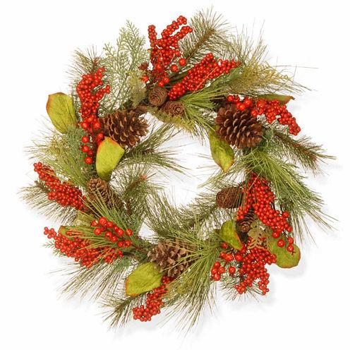 National Tree Co. Holiday Flavor Indoor/Outdoor Christmas Wreath