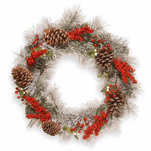 National Tree Co. Snowy Mixed Indoor/Outdoor Christmas Wreath