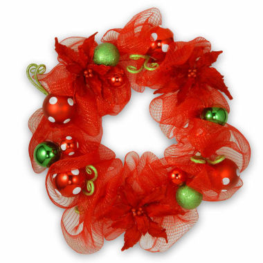 jcpenney.com | National Tree Co. Red Ribbon Indoor/Outdoor Christmas Wreath