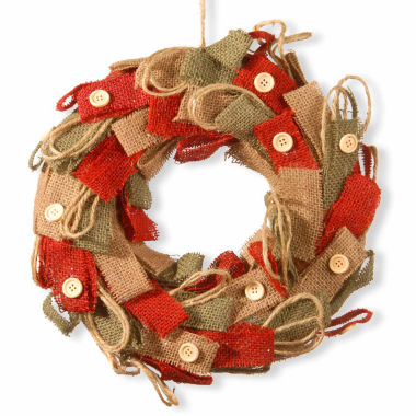 jcpenney.com | National Tree Co Rustic Burlap Indoor/Outdoor Christmas Wreath