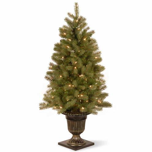 National Tree Co. 4 Foot Downswept Douglas Fir Pre-Lit Christmas Tree