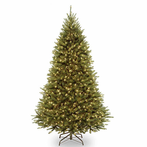 National Tree Co. 7 1/2 Foot Kingswood Fir Hinged Pre-Lit Christmas Tree