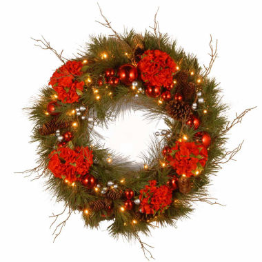 jcpenney.com | National Tree Co. Hydrangea Indoor/Outdoor Christmas Wreath