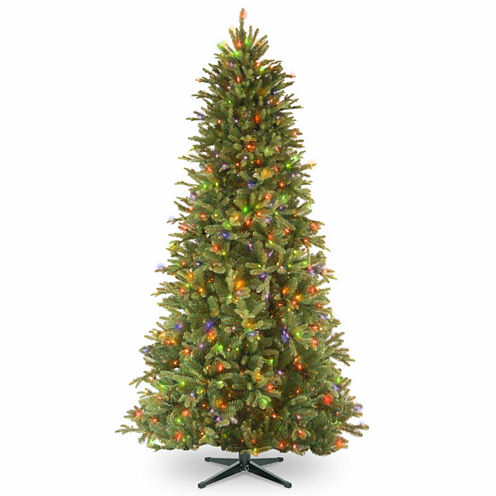 National Tree Co. 6 1/2 Foot Tiffany Fir Slim Memory-Shape Pre-Lit Christmas Tree