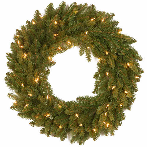National Tree Co. Avalon Spruce Feel Real Indoor/Outdoor Christmas Wreath
