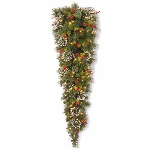 National Tree Co. Wintry Pine Teardrop Swag Holiday Yard Art
