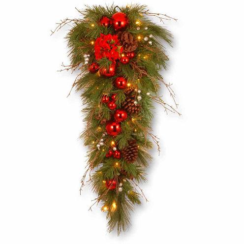 National Tree Co. Hydrangea Teardrop Holiday Yard Art