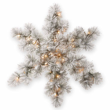 jcpenney.com | National Tree Co Bristle Pine Snowflake Holiday Yard Art