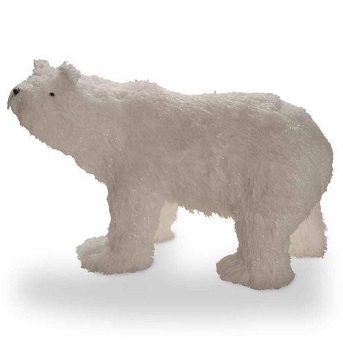 National Tree Co. Soft Cotton Fabric Polar Bear Animal Figurines