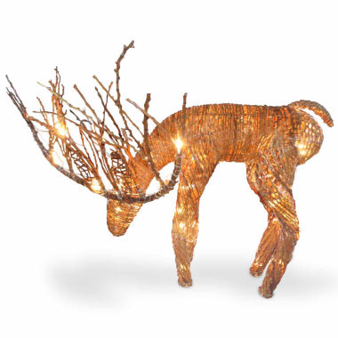 jcpenney.com | National Tree Co. Rattan Deer Animal Figurines
