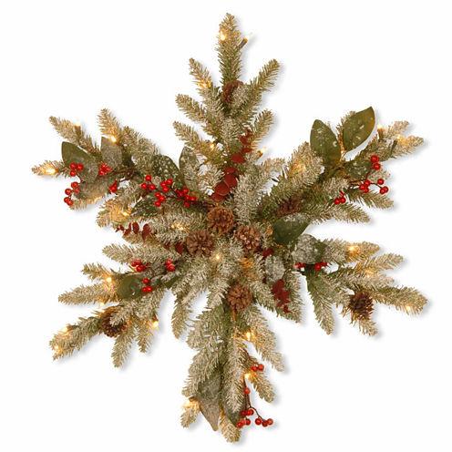 National Tree Co. Eucalyptus Snowflake Indoor/Outdoor Christmas Wreath