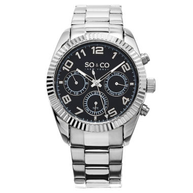 jcpenney.com | So & Co Mens Silver Tone Bracelet Watch-Jp15100