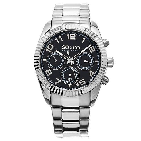 So & Co Mens Silver Tone Bracelet Watch-Jp15100