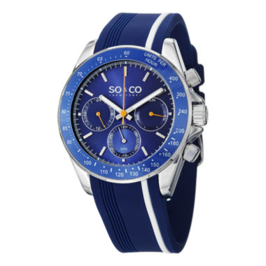 jcpenney.com | So & Co Mens Blue Strap Watch-Jp15087