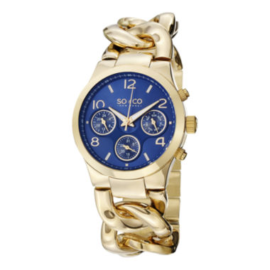jcpenney.com | So & Co Womens Gold Tone Bracelet Watch-Jp15120