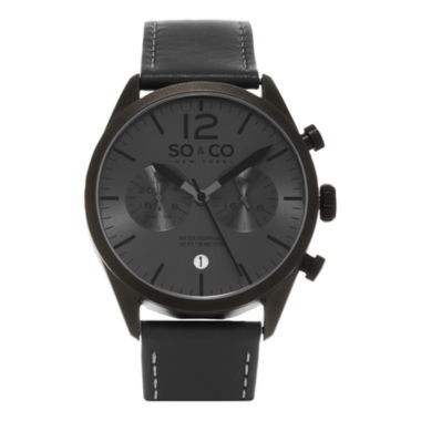 jcpenney.com | So & Co Mens Gray Strap Watch-Jp15450