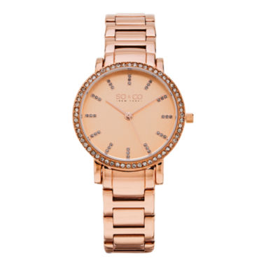 jcpenney.com | So & Co Womens Rose Goldtone Bracelet Watch-Jp15529