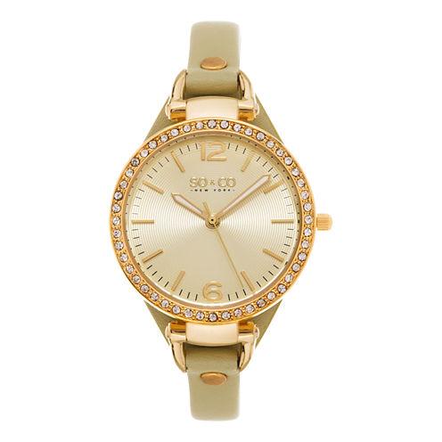 So & Co Womens Gray Bracelet Watch-Jp15533