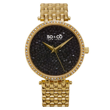 jcpenney.com | So & Co Womens Gold Tone Bracelet Watch-Jp15863