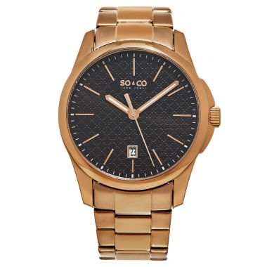 jcpenney.com | So & Co Mens Rose Goldtone Bracelet Watch-Jp15886