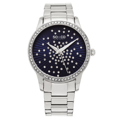jcpenney.com | So & Co Womens Silver Tone Bracelet Watch-Jp16021