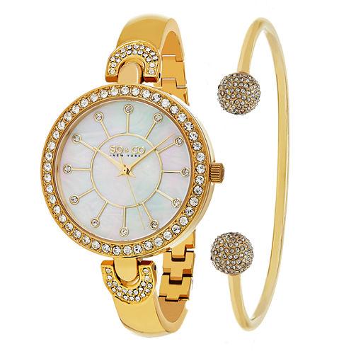 So & Co Womens Gold Tone Bracelet Watch-Jp16297