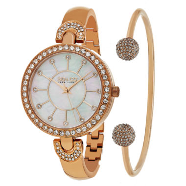 jcpenney.com | So & Co Womens Rose Goldtone Bracelet Watch-Jp16298