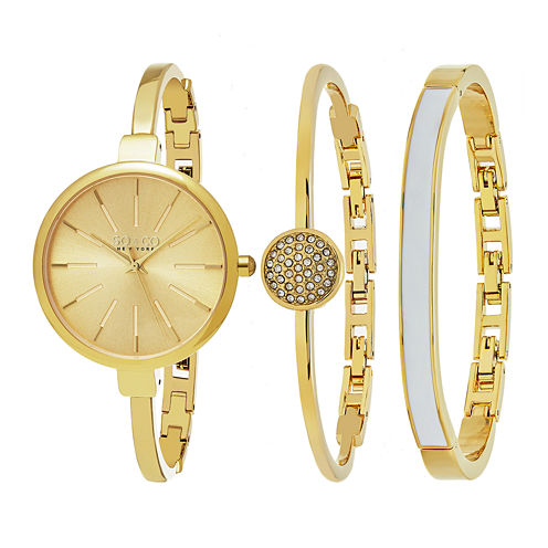 So & Co Womens Gold Tone Bracelet Watch-Jp16146