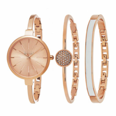 jcpenney.com | So & Co Womens Rose Goldtone Bracelet Watch-Jp16147