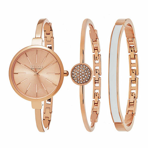 So & Co Womens Rose Goldtone Bracelet Watch-Jp16147