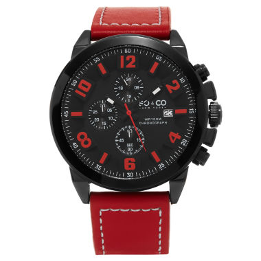 jcpenney.com | So & Co Mens Red Strap Watch-Jp15944