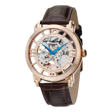 jcpenney.com | Stuhrling Mens Brown Strap Watch-Sp11336