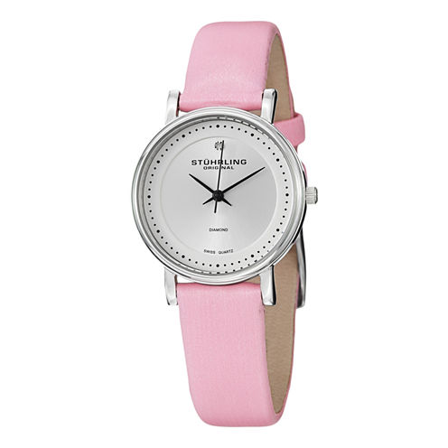 Stuhrling Womens Pink Strap Watch-Sp13076