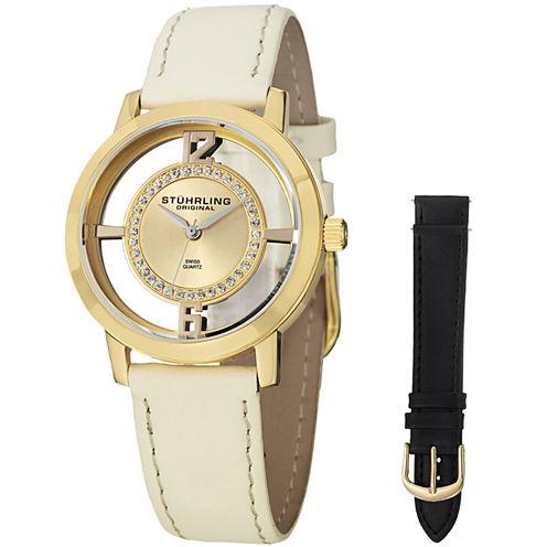 Stuhrling Womens White Strap Watch-Sp14653
