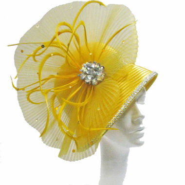 jcpenney.com | Whittall & Shon Derby Hat Cloche W Pleated Fan And Crystal Brooch