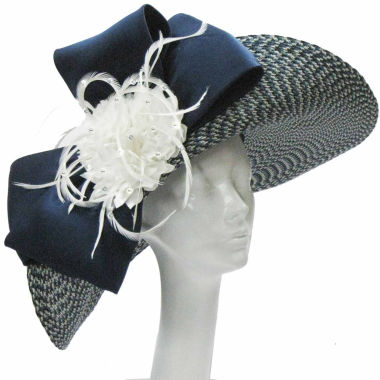 jcpenney.com | Whittall & Shon Derby Hat Lg Upbrim With Bow And Flower