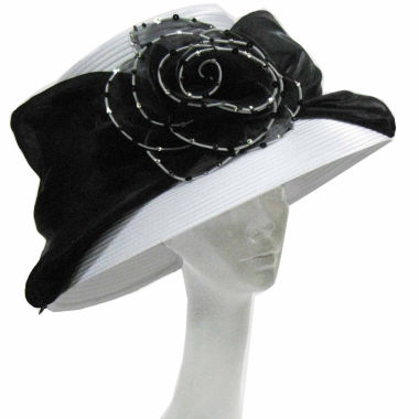 jcpenney.com | Whittall & Shon Derby Hat Large Lampshade Brim With Organza Rosette