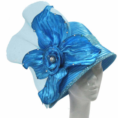 jcpenney.com | Whittall & Shon Derby Hat Cloche W Pleated Anemone Flower