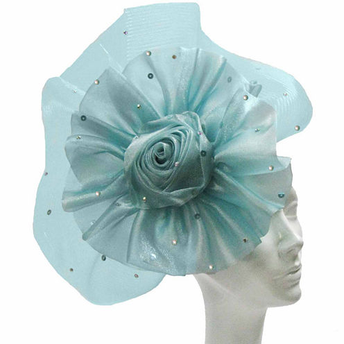 Whittall & Shon Derby Hat Fascinator W Flower And Fan