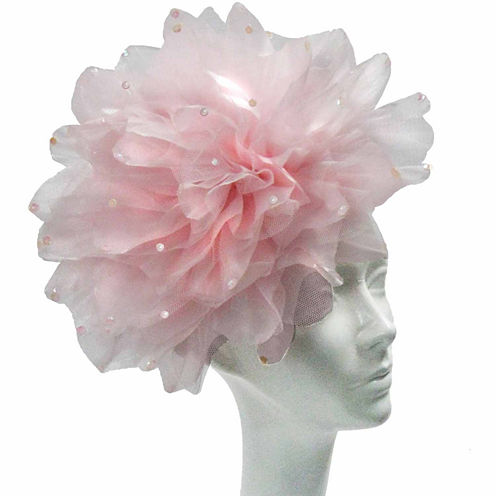 Whittall & Shon Derby Hat Fascinator With Large Flower