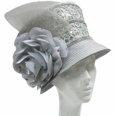jcpenney.com | Whittall & Shon Derby Hat Bucket W Sequin Trim And Rose