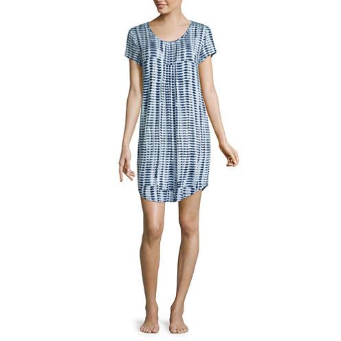 Ambrielle® Cap-Sleeve Nightshirt